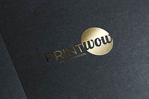 Print Wow Foiled Business Card