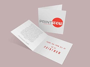 Custom Greeting / Thank You Cards by Print Wow