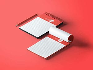 Half page notepads by Print Wow