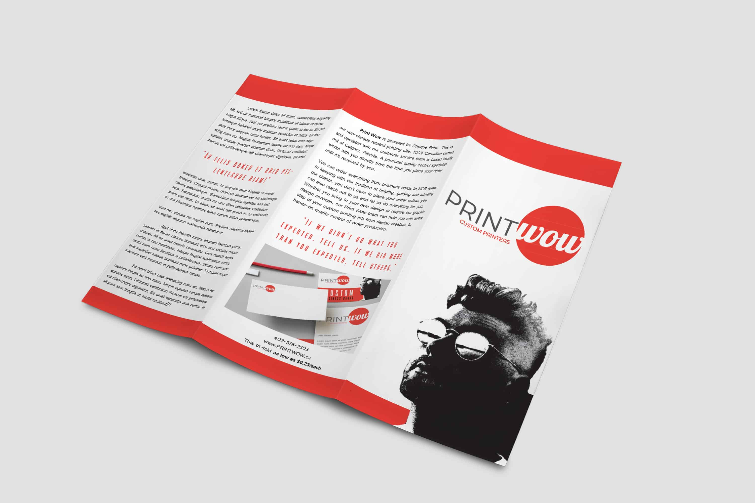 Print Wow Trifold Brochure/Flyer